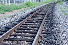 Free Curve Of Rail Along On The Way Stock Photos - 15366183