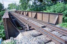 Free Rust Metal Bridge Of Rail Stock Images - 15366254