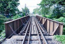 Free Rust Metal Bridge Of Rail Stock Photos - 15366313