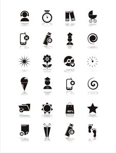 Set Of 21 Different Icons Stock Images