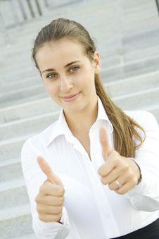 Free Businesswoman Sign OK Stock Photos - 15366543