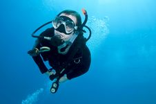 Free Male Scuba Diver Stock Photography - 15366552
