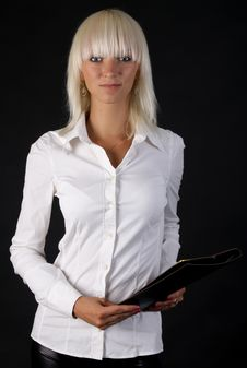 Free Beautiful Business Blonde Lady Royalty Free Stock Photography - 15366837