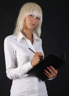 Beautiful Business Blonde Lady Royalty Free Stock Photos