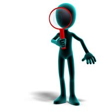 Free 3d Male Icon Toon Character With A Magnifier Royalty Free Stock Photo - 15366975
