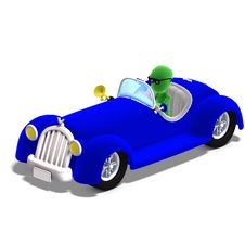 Free 3d Male Icon Toon Character Driving A Huge Car Stock Photos - 15366983