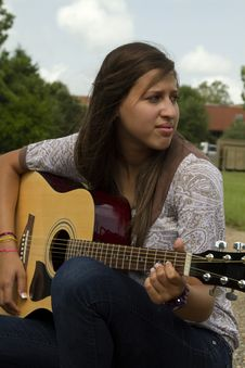 Free Summertime Guitar Music Royalty Free Stock Photo - 15367075