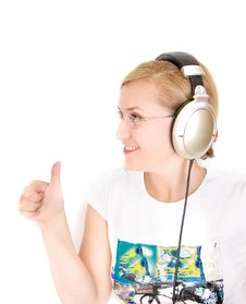 Free Woman Listening To Music Stock Photos - 15367313