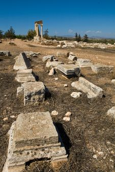 Free Ruins At The Sanctuary Of Apollon Ylatis, Cyprus Stock Photos - 15367703
