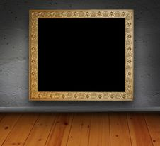 Free Brick Interior With Picture Frame Royalty Free Stock Photography - 15368787