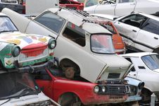 Free Scrap Cars Yard Royalty Free Stock Photography - 15369137