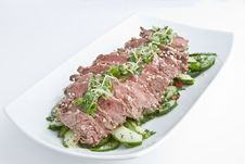 Free Rare Fillet Steak Salad Royalty Free Stock Photo - 15369235