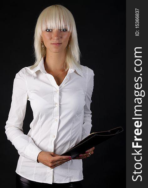 Beautiful business blonde lady