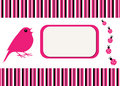 Free Bird & Ladybugs Stripe Card Stock Photo - 15373530