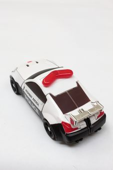 Scale Police Car Model Royalty Free Stock Photos