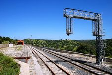 Free Railway In Sicilian Countryside Royalty Free Stock Photography - 15370777