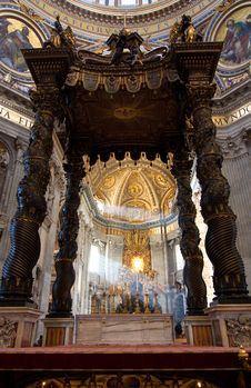 Free Interior Of Saint Peter S Dome Rome, Italy. Royalty Free Stock Photo - 15370845