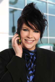 Free Young Businesswoman On The Cell Phone Stock Image - 15371091