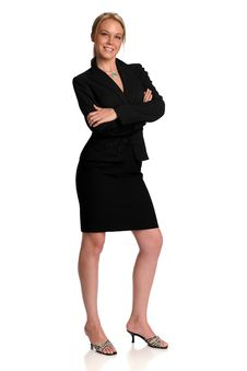 Young Businesswoman Smiling Royalty Free Stock Photo