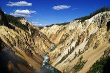 Free Grand Canyon Of Yellowstone Royalty Free Stock Image - 15371816