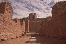 Ruins Of An Old Spanish Mission Stock Photo