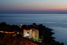 Free Night On The Coast In Croatia Royalty Free Stock Photography - 15372877