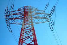 Free Red And White Electricity Pylon Stock Photo - 15373460