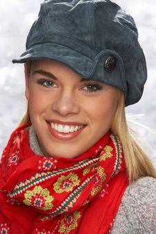 Free Teenage Girl Wearing Knitwear In Studio Royalty Free Stock Images - 15373499