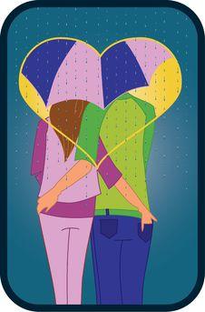 Free Couple Under Umbrella Royalty Free Stock Photo - 15373615