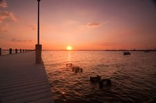 Free Sunset Over Dock Stock Photo - 15373700