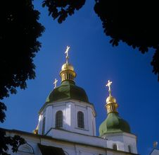 Free Gold Domes Of St. Sophia Cathedral. Kyiv, Ukraine. Royalty Free Stock Images - 15373739