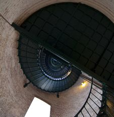 Lighthouse Stairs Stock Image