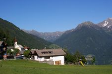 Small Idyllic Mountain Village Royalty Free Stock Image