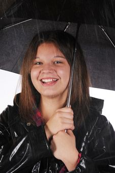 Free Happy In The Rain Royalty Free Stock Photo - 15374055