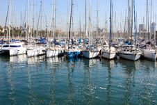 Free Harbor In Barcelona, Spain Stock Images - 15374644