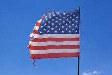 Free Worn American Flag Royalty Free Stock Photography - 15374877