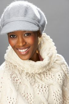 Free Fashionable Woman Wearing Knitwear In Studio Stock Photography - 15375592