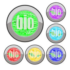 Free Bio Button Set Stock Photo - 15375840
