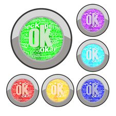Free Ok Button Royalty Free Stock Image - 15375856