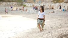 Free Walking On The Beach Royalty Free Stock Photography - 15375977