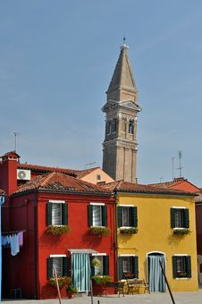 Free Leaning Tower Of Burano Stock Photo - 15377270