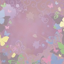Free Background With Butterfly Stock Photography - 15377402