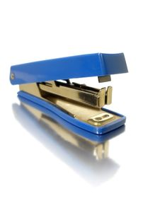 Free Small Blue Stapler Stock Photo - 15378510