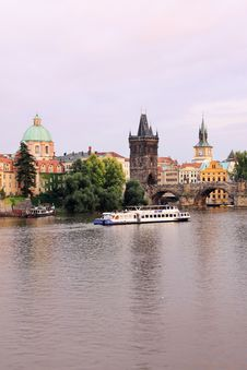 Prague Old Town With The Bridge Tower Stock Photography