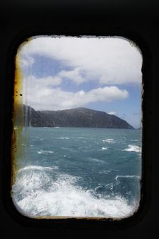 Free Ship Window And Rough Sea Stock Photo - 15378880