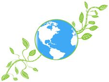 Free Earth With Green Leaves Royalty Free Stock Photo - 15379535