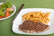 Free Steak And Fries Royalty Free Stock Photo - 15379725