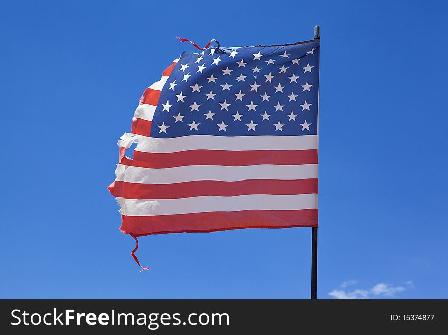 Worn American Flag - Free Stock Images & Photos - 15374877