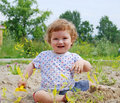 Free Baby Playing On The Sand Royalty Free Stock Photography - 15380567