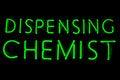 Free Dispensing Chemist Neon Sign Stock Images - 15380724